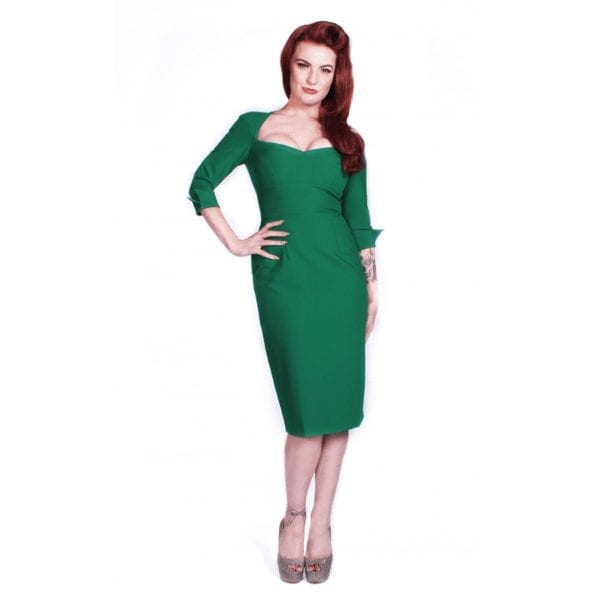 GLAMOUR BUNNY Adele Wiggle Grön klänning