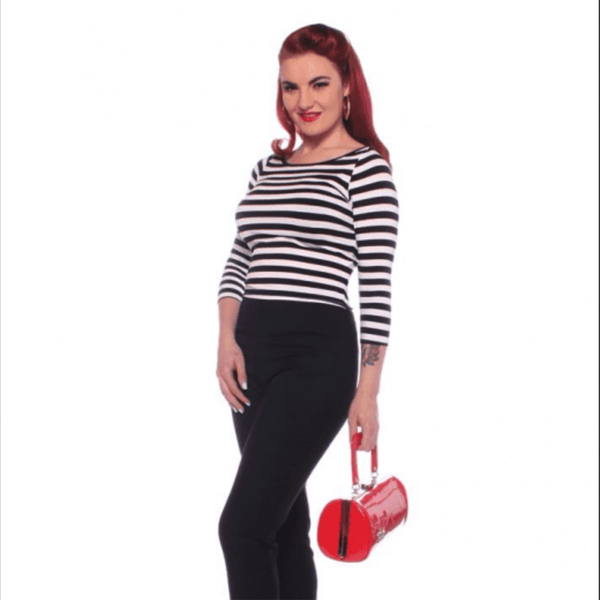 57461c036373 Glamour Bunny Rockabilly Striped Sylvia Topp