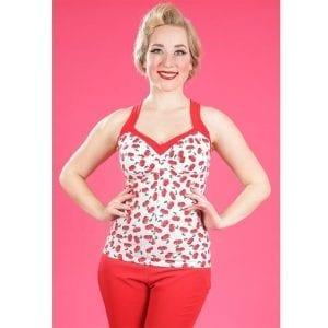 Miss Candyfloss Rockabilly Cherry topp