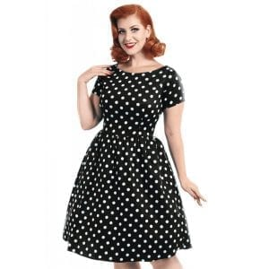 Lady V London Eloise Polkadot Prickig 50-tals klänning