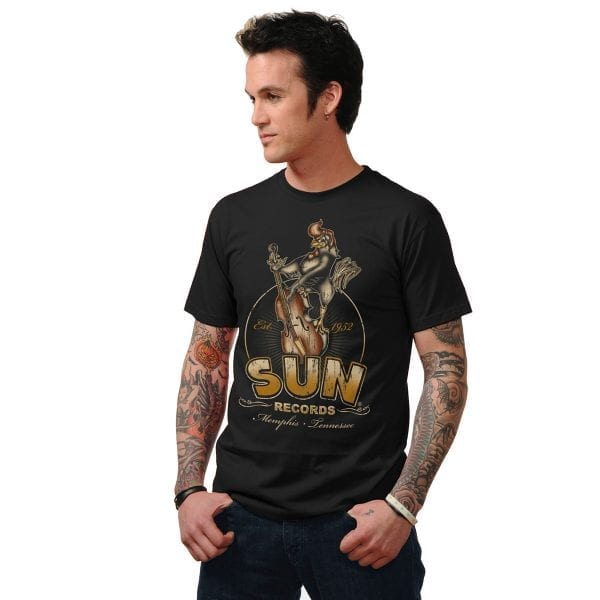 STEADY Sun Records roosterbilly T-Shirt rockabilly