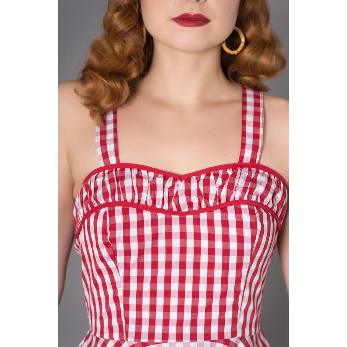 MISS CANDYFLOSS Willow chequered rockabilly klänning