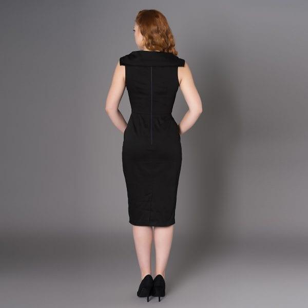 SHEEN Harmony svart 60-tals klänning