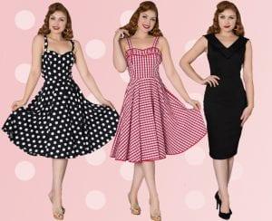 50-tals, rockabilly, vintage och 60-tals klänning