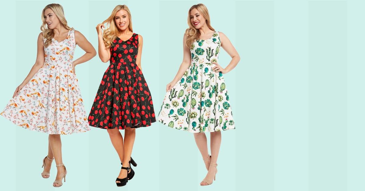 EVAROSE vintage rockabilly 50-tals klänningar