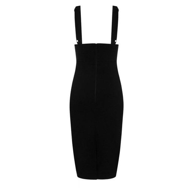 Collectif Karen Vintage 50-tals svart hängsle pennkjol