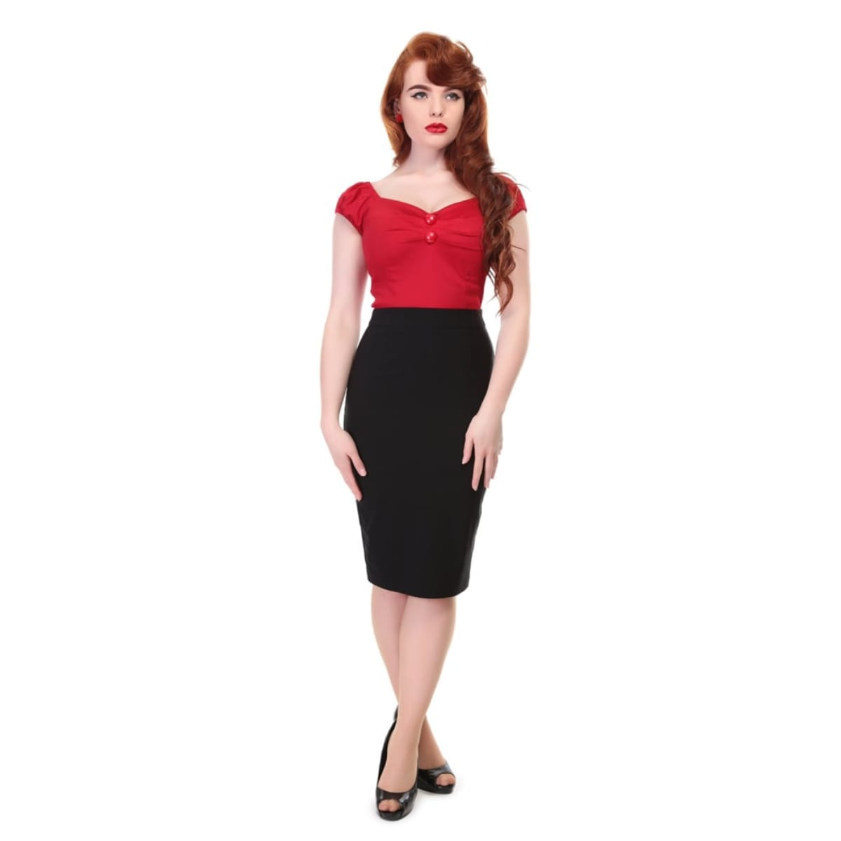 Collectif 50-tals vintage rockabilly pennkjol