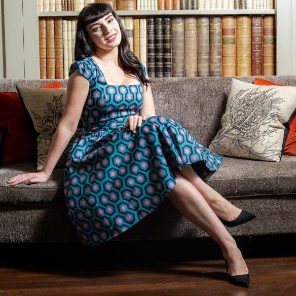 Lady V London Hicks Hexagon 50-tals klänning rockabilly vintage