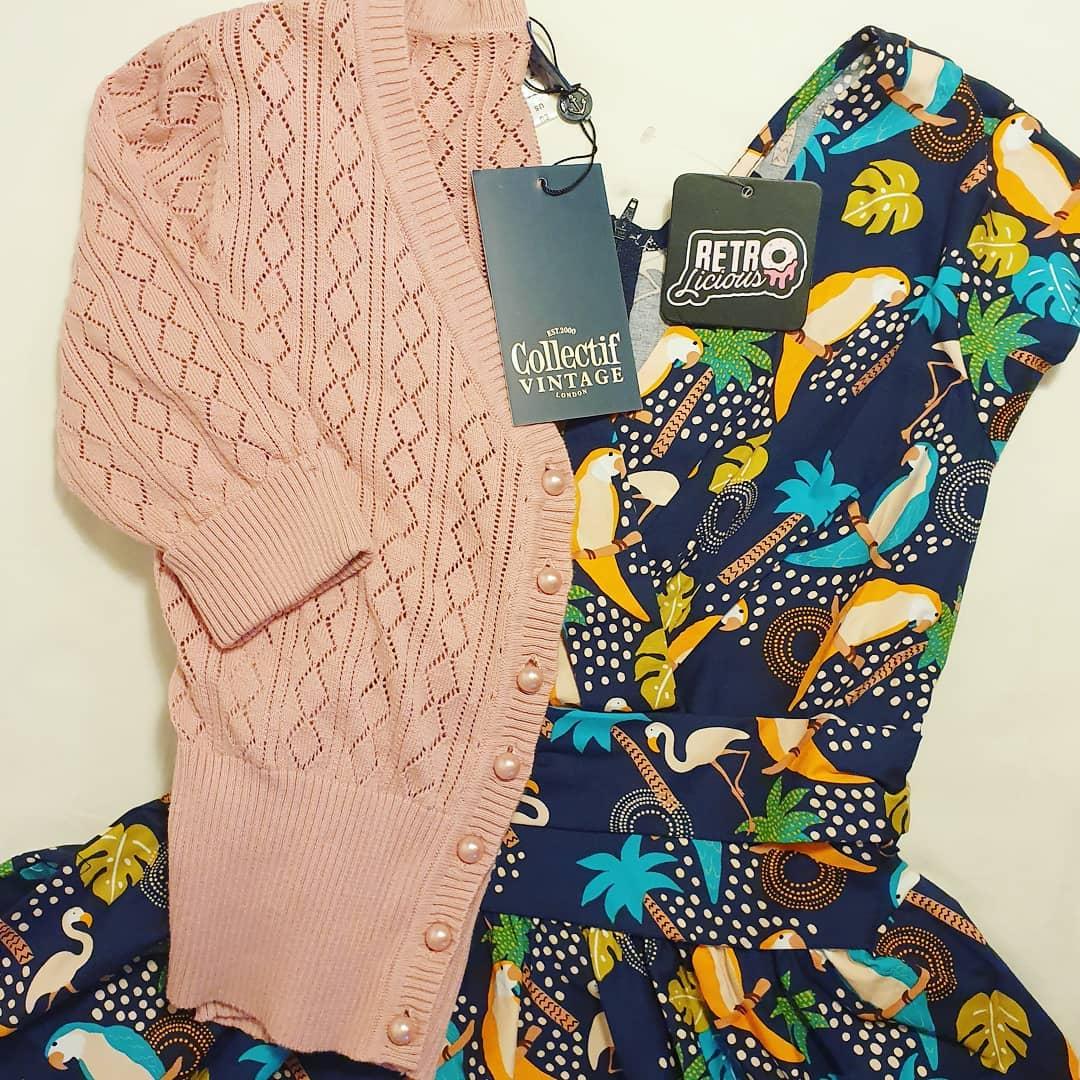 Retrolicious Greta Tropical 50-tals klänning