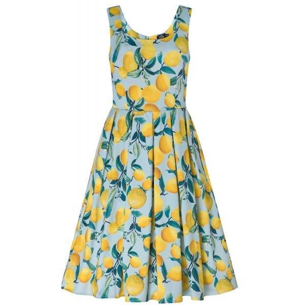 DOLLY AND DOTTY Amanda lemon vintage klänning