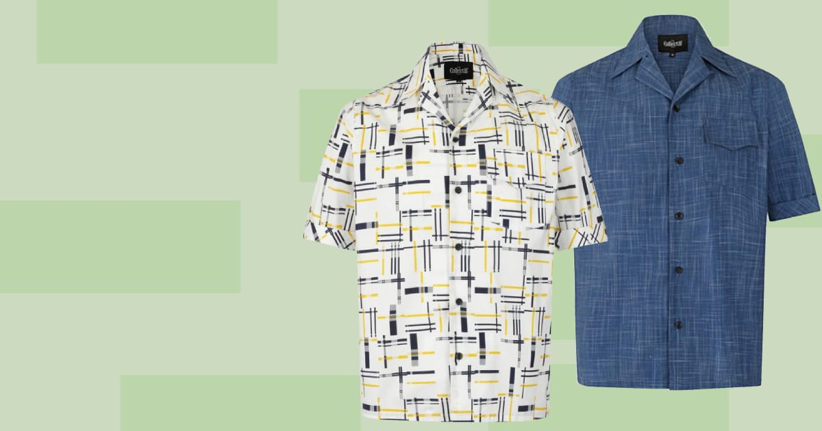 Collectif 50-tals kläder herr rockabilly skjorta