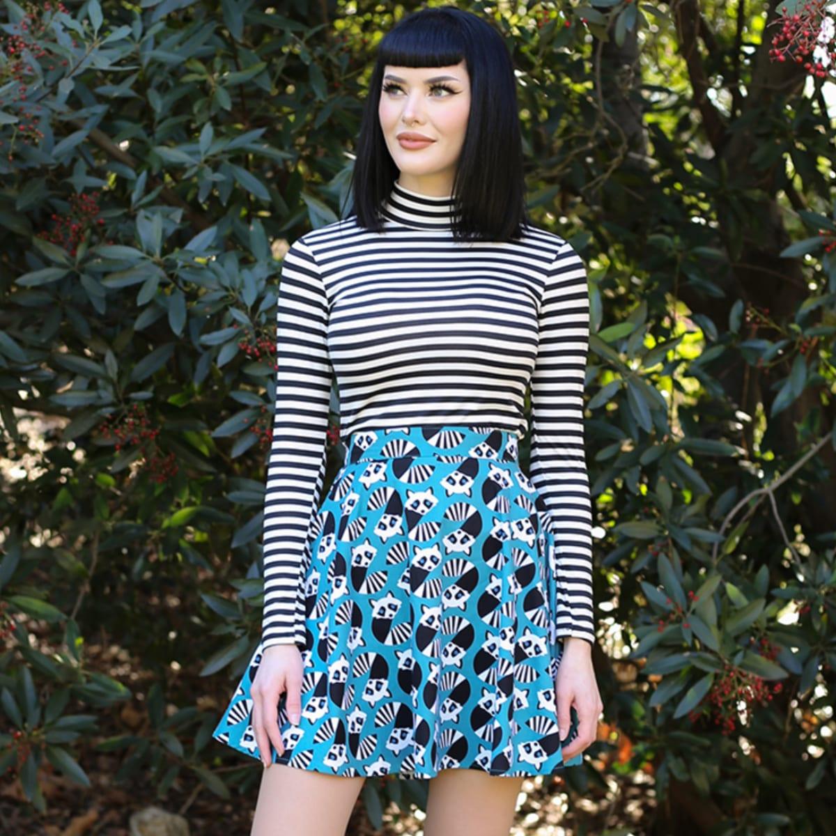 Retrolicious Racoon skater 60-tals kjol mods
