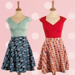 Retrolicious Isabel 50tals topp 60tals kjol skater