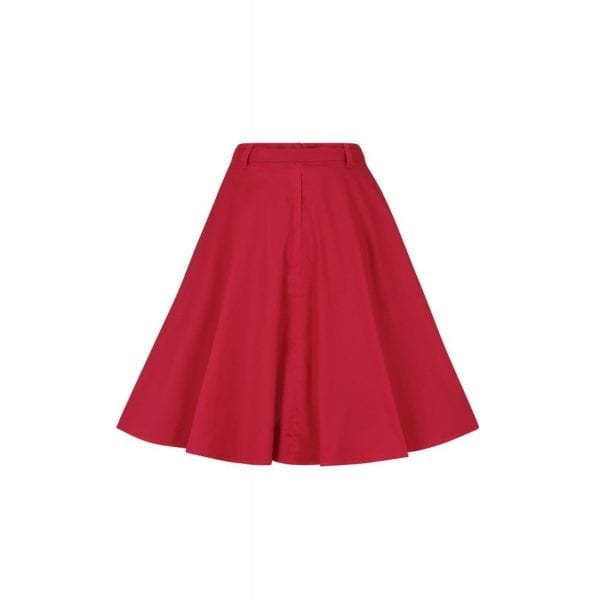 Collectif Dakota röd 50-tals kjol swingkjol rockabilly vintage