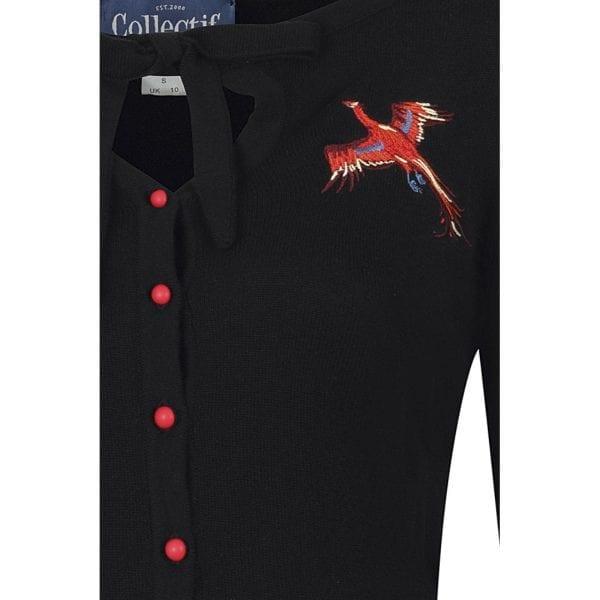 Collectif Charlene Fenix 50-tals cardigan vintage rockabilly