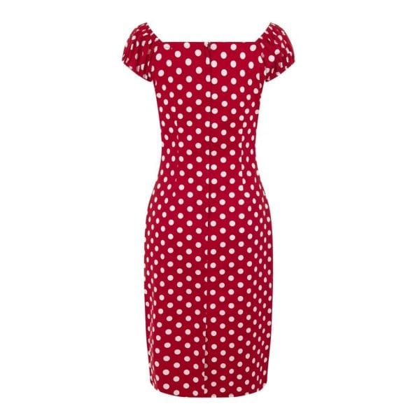 Collectif Dolores Polka Dot Prickig röd klänning
