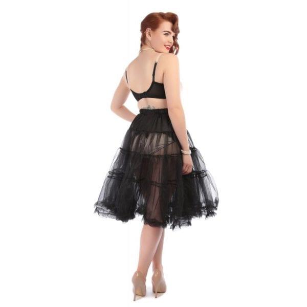 Collectif Maddy Svart 50-tals tyllkjol petticoat