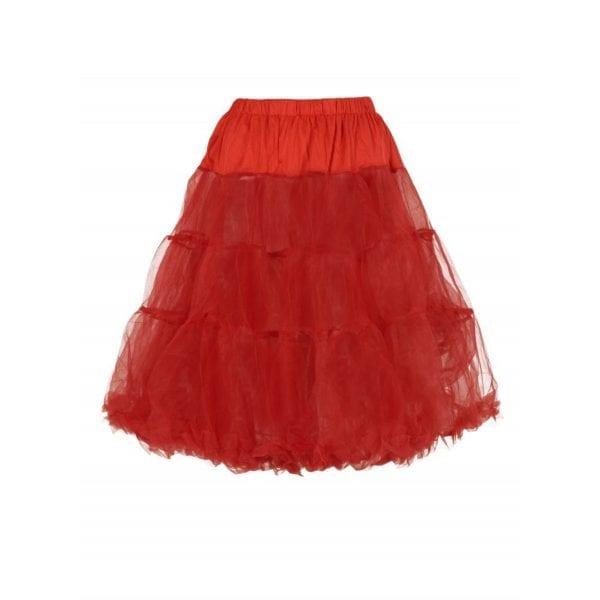 Collectif Maddy röd 50-tals tyllkjol petticoat underkjol vintage rockabilly