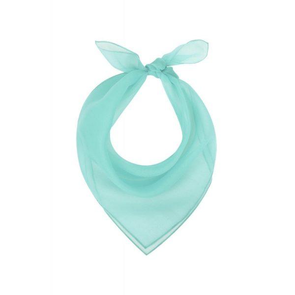 Collectif turkos 50-tals nylon scarf vintage retro accessoar