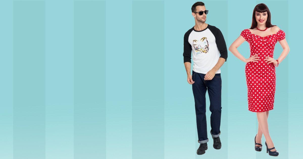 Collectif rockabilly vintage kläder klänningar tshirt