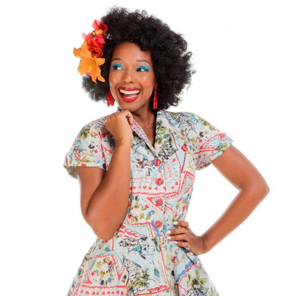 LOVE UR LOOK Vintage vykort 50-tals skjortklänning etiskt återbrukat