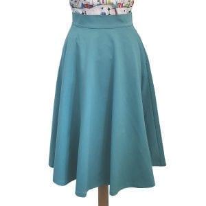 Retrolicious Charlotte ljusblå vintage kjol