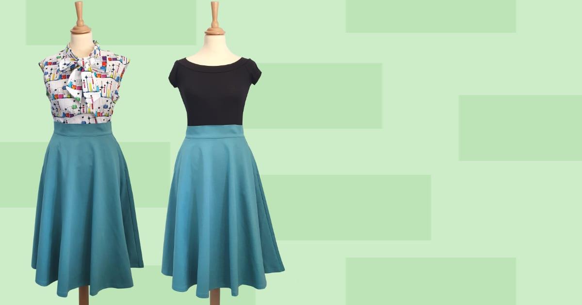Retrolicious vintage 50-tals rockabilly kläder kjol knytblus vintage