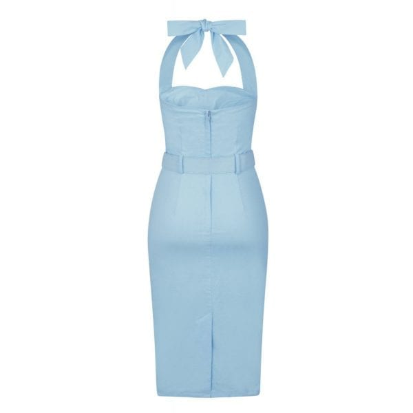 COLLECTIF Wanda ljusblå 50-tals klänning