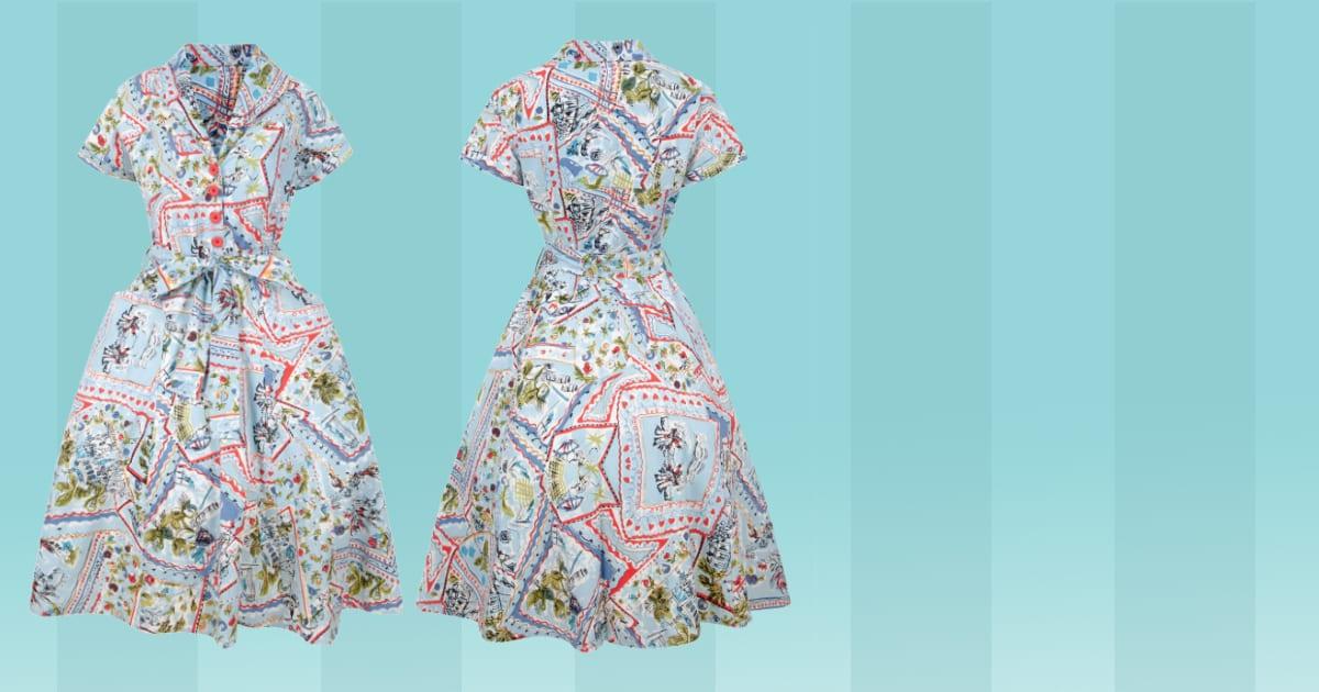 Love Ur Look hållbart etiskt återbrukat retro rockabilly klänning