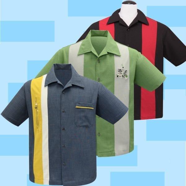 Steady bowling-skjorta 50-tals_skjorta_vintage_rockabilly