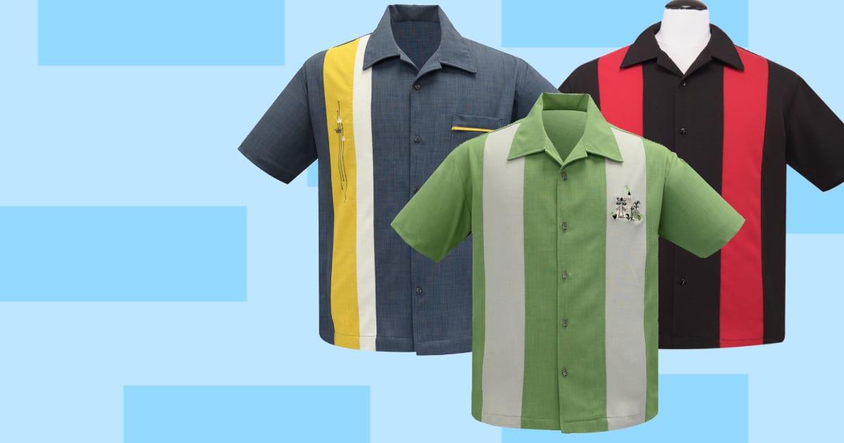Steady bowlingskjorta 50-tals skjorta rockabilly